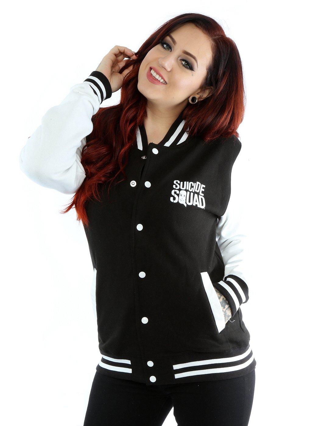 Suicide Squad Women's Harley Quinn Icon Varsity Jacket XX-Large Black / White