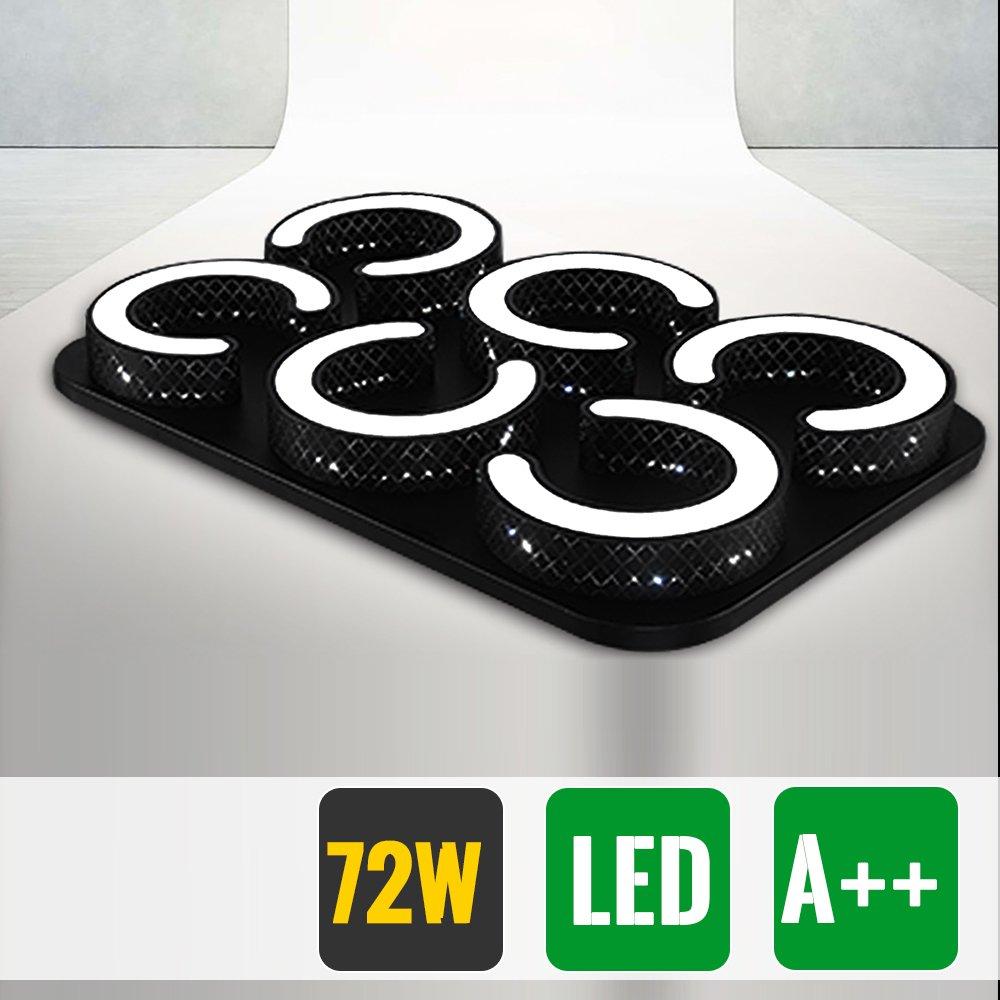 HG® 72W LED Deckenlampe Markantes Design Badezimmer Lampe eckig ...
