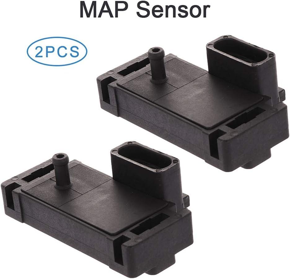 SCITOO 12816160 Manifold Absolute Pressure Sensor 2PCS Fit For 1996 Chevrolet Corvette 1985-1987 Chevrolet El Camino