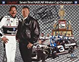 2X AUTOGRAPHED 1994 Dale Earnhardt Sr. & Richard Childress #3 Goodwrench Racing 7X WINSTON CUP CHAMPION Vintage Signed NASCAR Collectible Trading Card with COA
