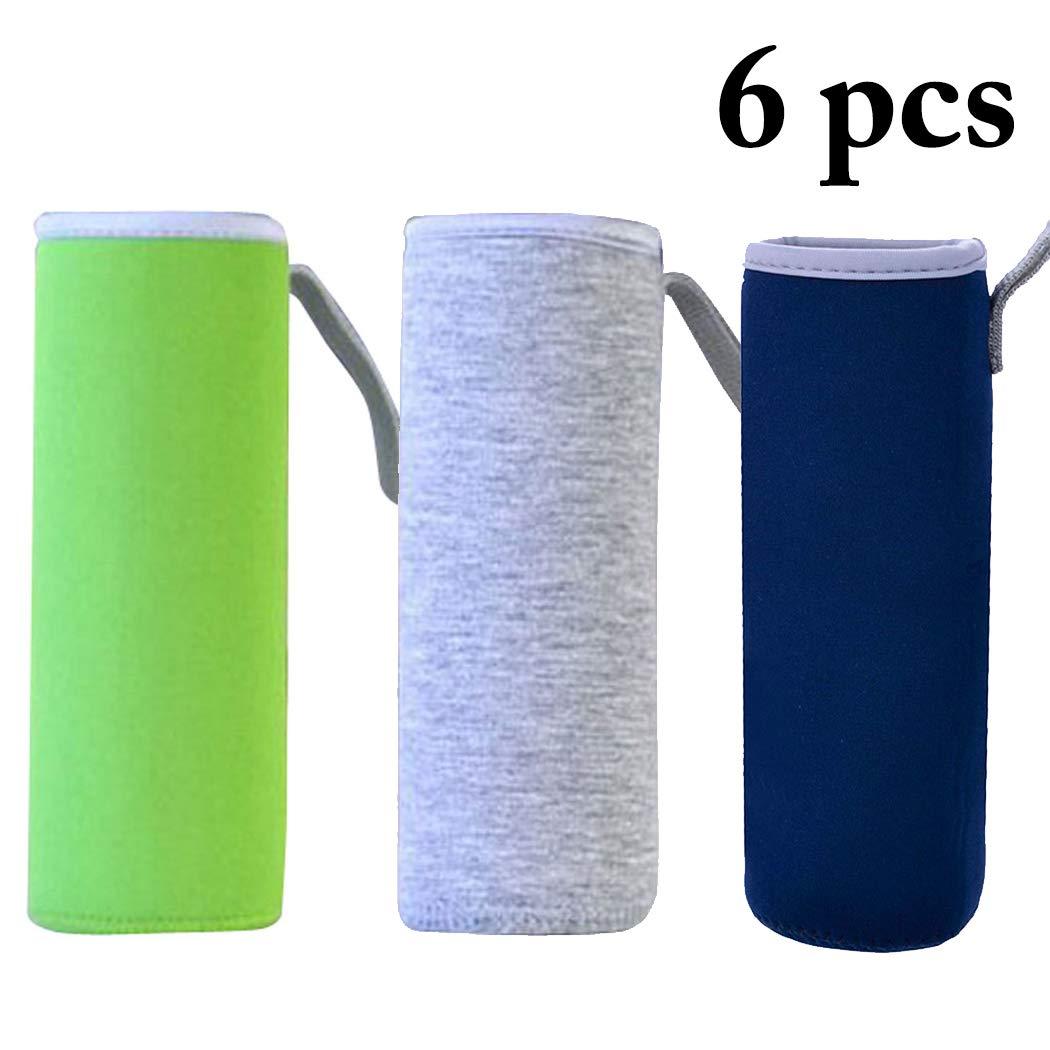 4PCS 500ML Cubierta para Botella de Agua de Neopreno Funda para Botella de Bebida Dos Colores Outgeek Neopreno Botella Agua