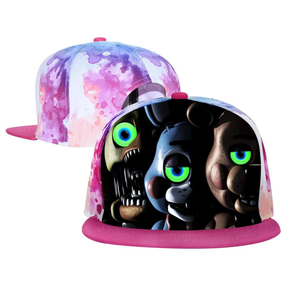 BEKAI Unisex Horror Five-Night-at-Fred-Dy Green Glowing Eyes Adjustable Brimbill Flats Hat for Mens//Womens Hip Hop Caps