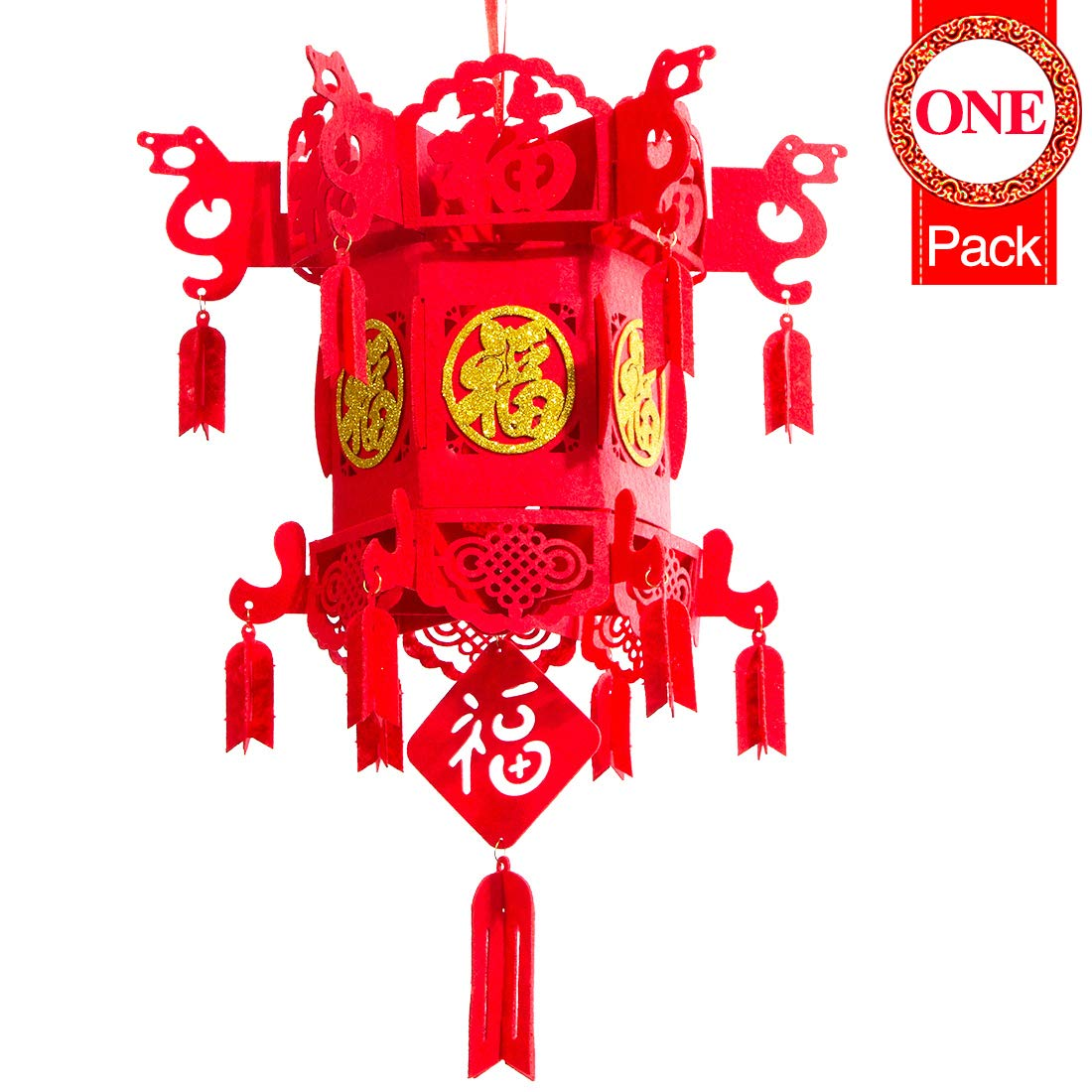 and Weddings 10/' Red Paper Lanterns Chinese New Year Lanterns Waterproof Hanging Lanterns for Spring Festivals Home Decor Holidays Parties