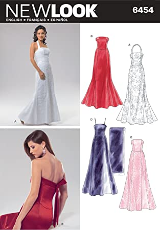 New Look Schnittmuster für festliche Nähmuster 6454, Kleid: Amazon ...
