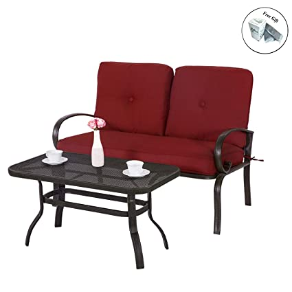Amazon.com : Outdoor Garden Patio Furniture Set Coffee Table ...