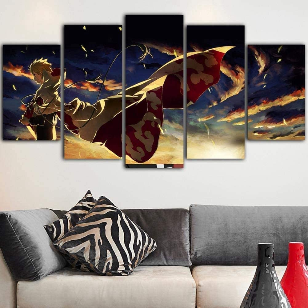 Naruto Anime 5 Pieces Canvas Print Poster HOME DECOR Wall Art