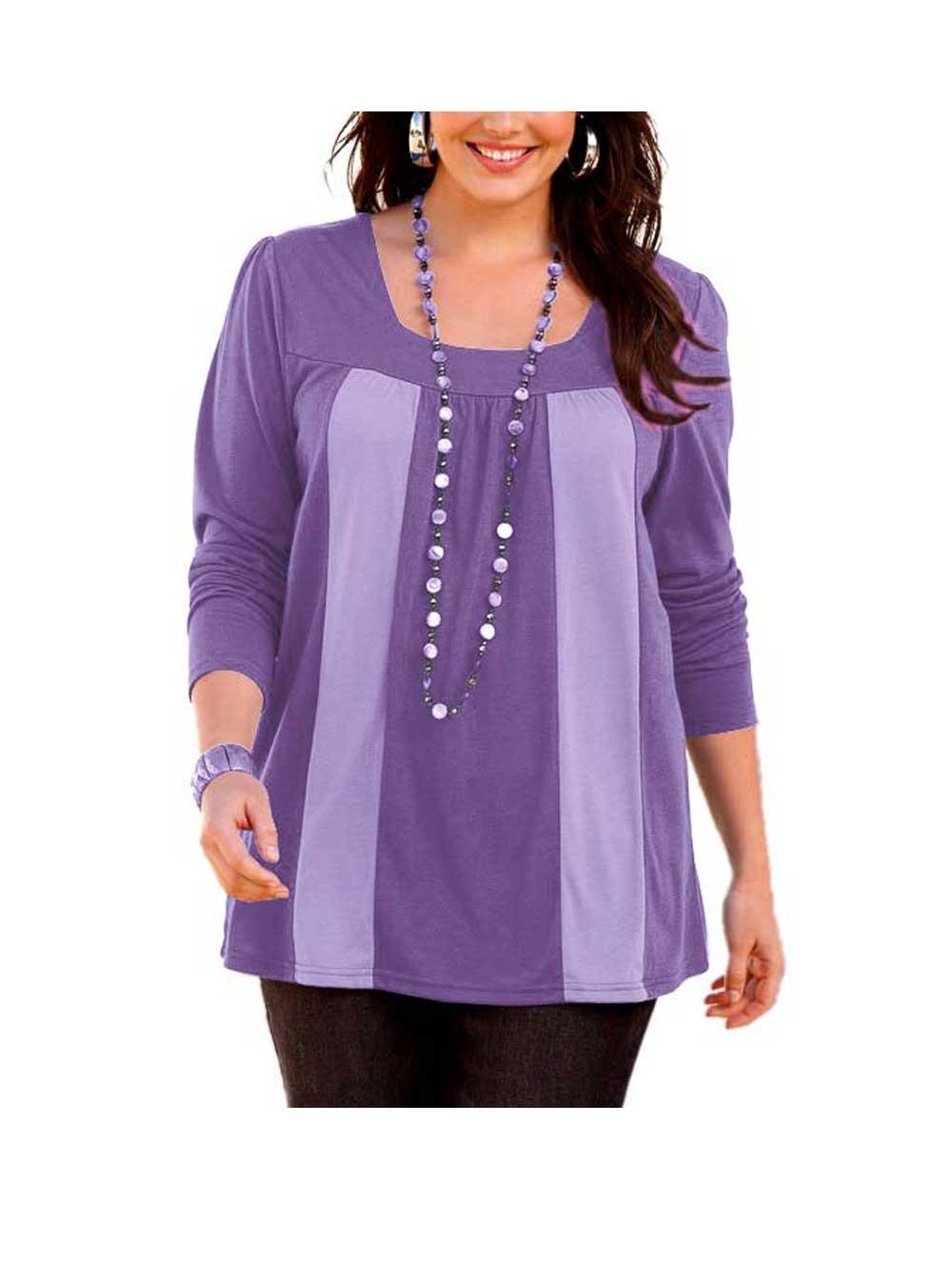 Sheego Shirt lila-flieder