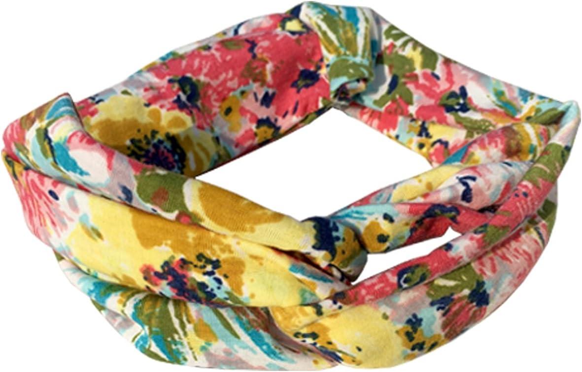 DRESHOW 4 Pezzi Fasce per Capelli Donna Elastica Turbante Fascia Capelli Cerchietti Annodato Fasce Accessori Capelli
