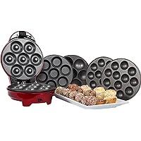 Gourmet Gadgetry Retro Diner, Platte 3in 1Für Snack Kuchen, Rot