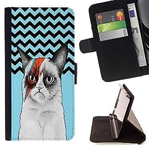 King Case - FOR Samsung Galaxy S6 - All losses are restored - Prima caja de la PU billetera de cuero con ranuras para tarjetas, efectivo Compartimiento desmontable y correa para la mu?eca