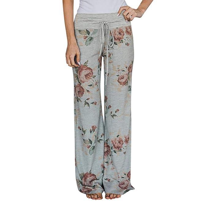 Kaufen Sie Authentic Junge Detaillierung Heatnine Damen Blumenmuster Locker Weite Beine Lange Hose ...