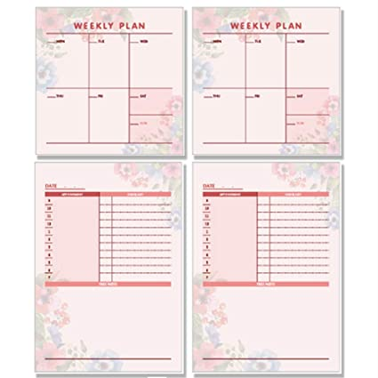 Amazon.com : Sticky Notes Planners, Undated Weekly Planner ...