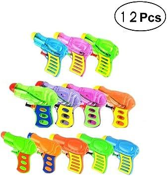OMZGXGOD 12 Pack Pistolas de Agua Plástico para Niños, Actividad ...
