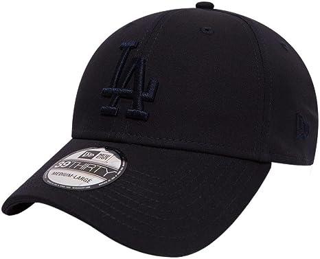 LA Dodgers New Era 3930 League Basic Stretch Fit  Navy Baseball Cap