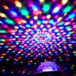 ALED LIGHT® MP3 Crystal Magic Ball 6 color Rotating Strobe Disco Stage Christmas LED RGB Ball Light with Remote control for Party Wedding Show Club Pub