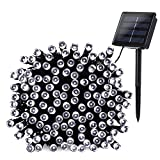 Qedertek Solar String Lights, 72ft 200 LED Fairy Decorative Lights with 8 Lighting Modes for Home, Lawn, Garden, Christmas, Wedding, Patio, Party and Holiday Decorations (Cool White)