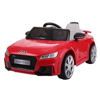 Amazoncom LAZYMOON Audi TT RS Kids V Ride On Car Electric - Audi car red