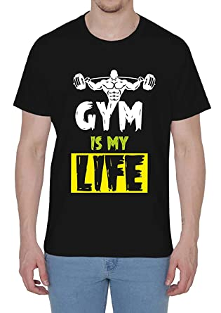 cb2e73a9abec8 Shopping Monster Gym is My Life Motivational Body Building Printed Designer Men's  Cotton Gym T Shirt