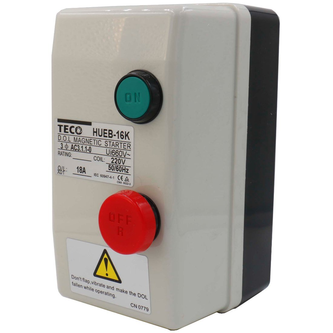 Baomain Magnetic Starter HUEB-16K On Off Switch Enclosed 3 Pole 220V Coil 12.5-18A