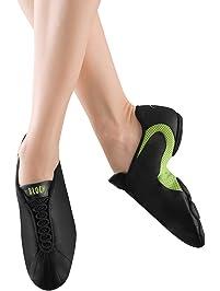 Bloch Dance Women's Amalgam Leather and Mesh Split Sole Jazz Sneaker