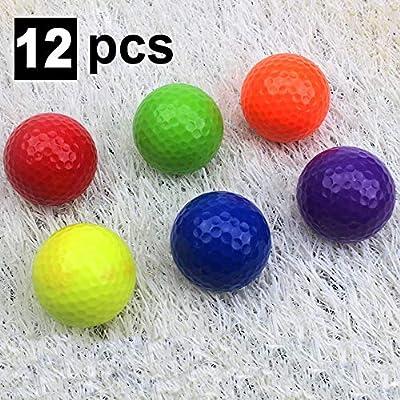 Kofull Colored My Class Golf Balls Mini Golf Game Putter Balls Practice Range -Pack of 12