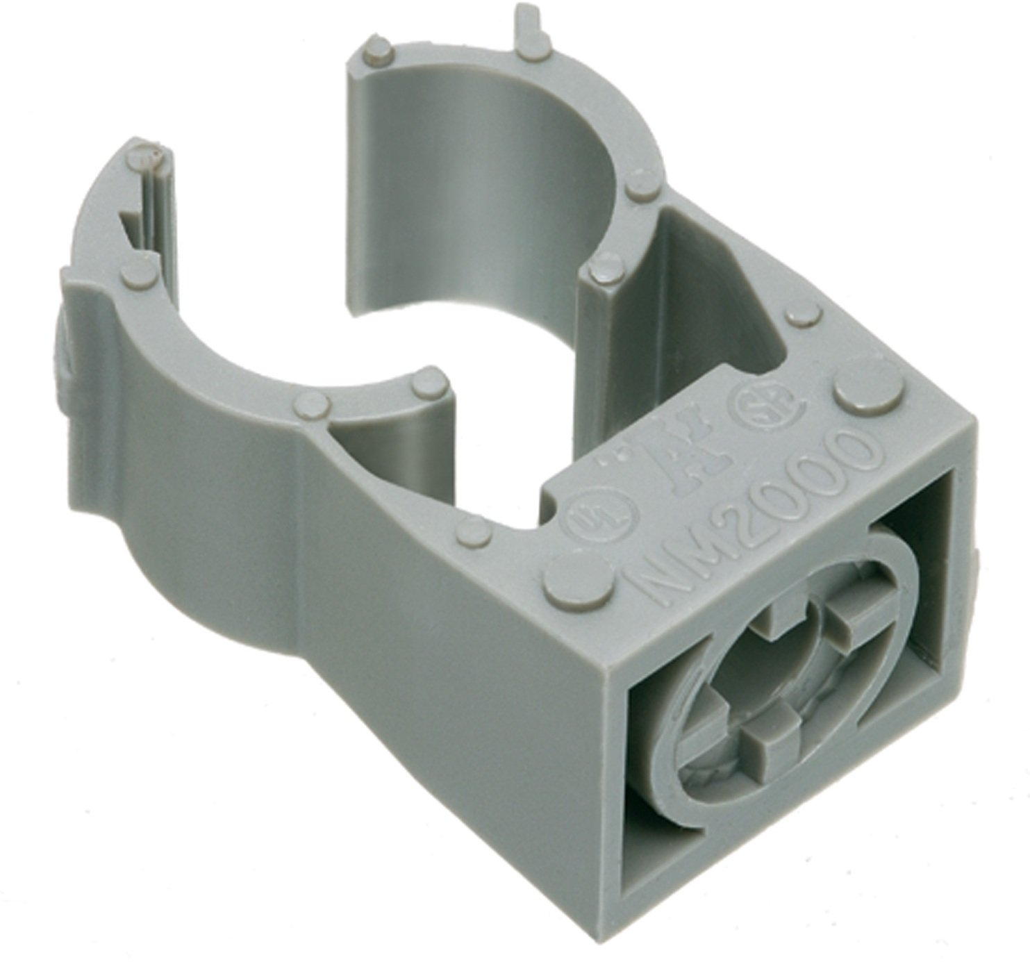 Arlington NM2015-100 Gray One-Piece Non-Metallic UV-Rated Quick-Latch Pipe Hanger, 100-Pack, 3/4-Inch RIGID