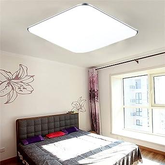 MCTECHR 18W LED Deckenbeleuchtung Ultraslim Modern Deckenleuchten Kaltweiss Deckenlampe Silber Golden Deckenleuchte Wohnzimmer Kche