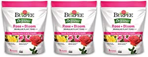 Burpee Natural Organic Rose Bloom Granular Plant Food 4 lb, 4 6 4 (3 Pack)