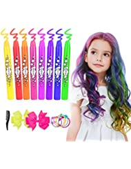 Hair Chalk for Girls Kids, Temporary Hair Chalk Pens 8 Colourful, Washable Hair Dye Chalk for Girls Gifts Kids Toys Birthday Present Themed Parties by ETEREAUTY