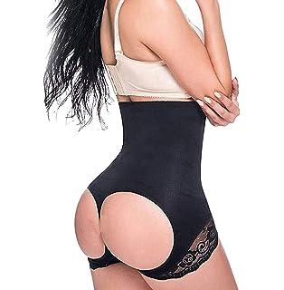 SAYFUT Womens Tummy Control Panties Thong High Waist Brief Shapewear
