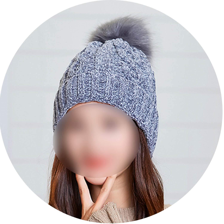 Women Hat Scarf Sets Autumn Winter Knitted Elegant Casual Warm Balaclava Wool Cap