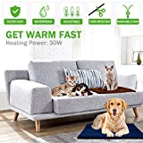 """Pet Heating Pad, Wrcibo Heated Dog Mat Cat Warming Pad with 7 Adjustable Temperature Settings Waterproof Chew Resistant Steel Cord 20"""" x 20"""""""