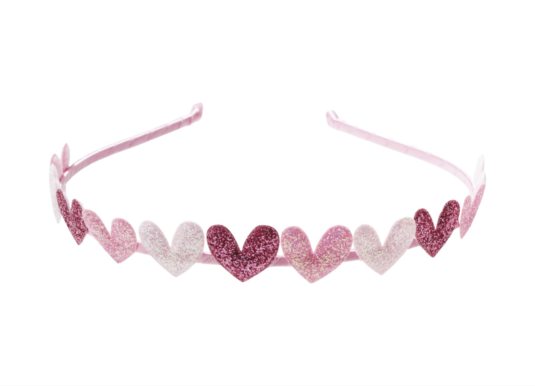 "Anna Belen Girls""Eden"" Glitter Hearts Headband"