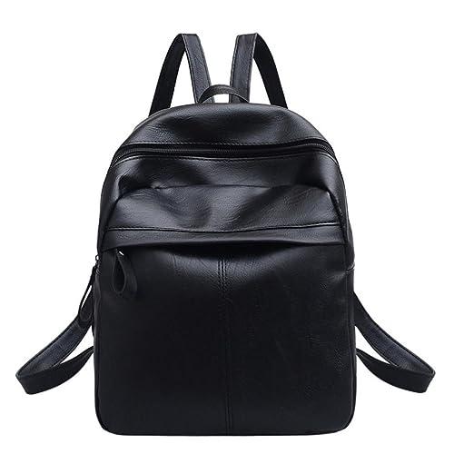 Mochilas Mujer Casual,Mochila de cuero de mujer bolso mochila bolsa de viaje LMMVP (