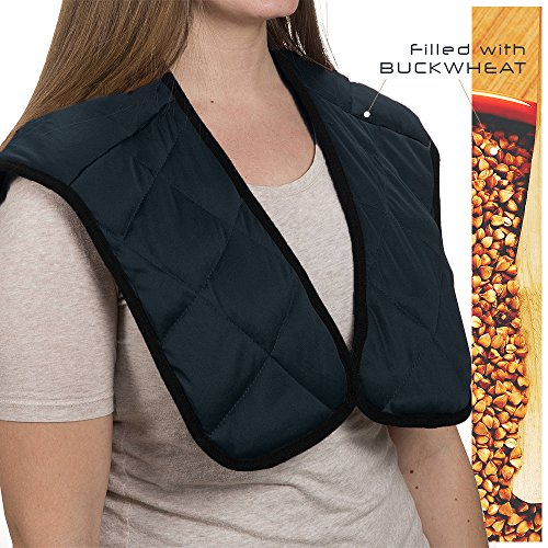 LifeShop Hot/Cold Therapeutic Neck and Shoulder Wrap (Buckwheat Neck Wrap)