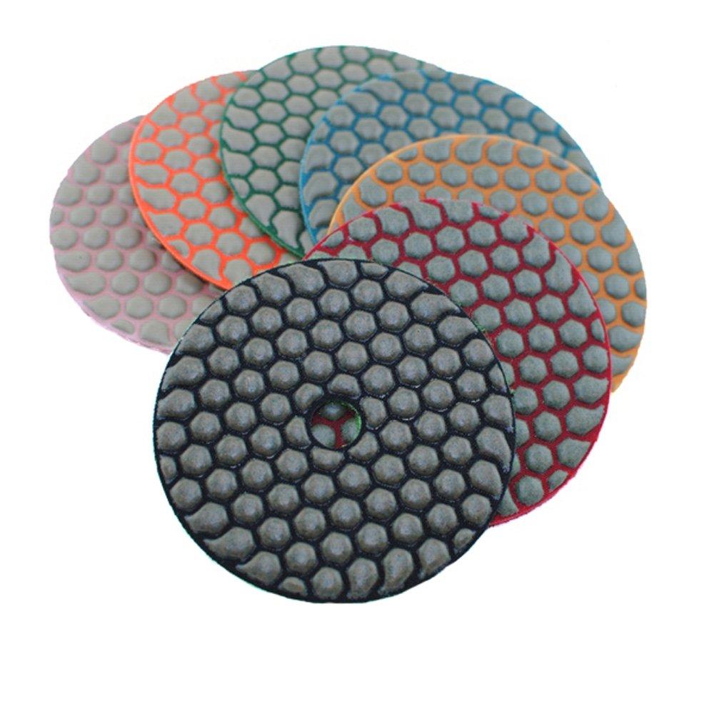 MURAT Dry Diamond Polishing Pads 4 Inch Premium Matte Grinding Pads for Concrete Marble Granite 7 PCS Grit 50-3000# (4inch,7pcs) by MURAT (Image #3)