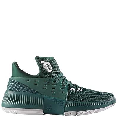 buy popular 540b0 17ad0 adidas Men s Dame 3 Basketball Dark Green White Grey Two 9 D(M
