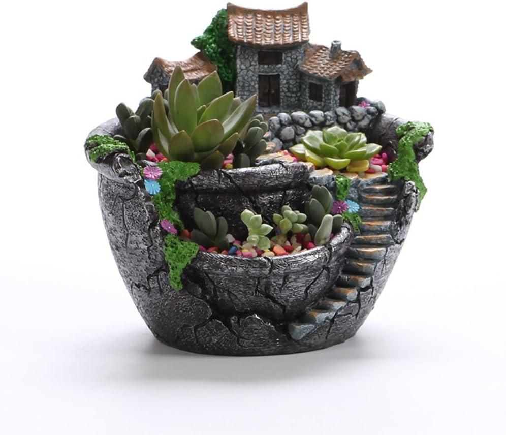 Amazon Com Winomo Artificial Flowers Succulent Plants Pot