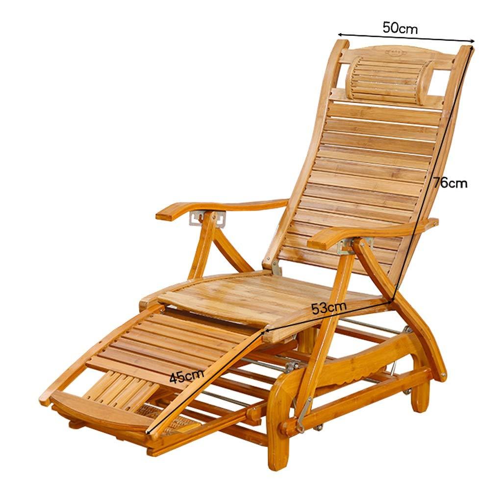 折りたたみロッキングチェアデッキチェア竹製チェア妊娠中の女性のリクライニングチェア寝室リビングルーム休息用チェアサンラウンジャー湖畔レジャーチェア (Color : A) B07T34Q74X A