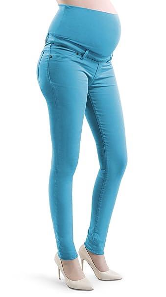 Pantalones de maternidad para Mujeres Embarazadas, flaco Jeggings, en algodòn elàstico, ajustado al