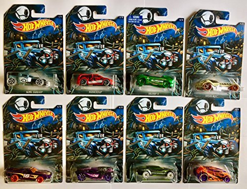 Hot Wheels Halloween 2016 Exclusive Complete Set of 8 Cars ()