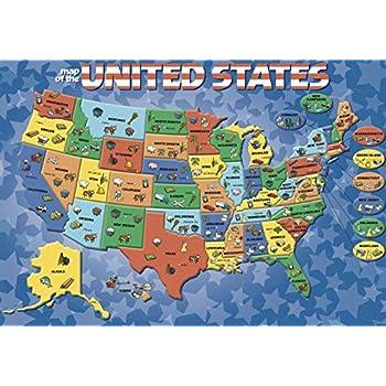 Cardinal Industries USA Map Puzzle