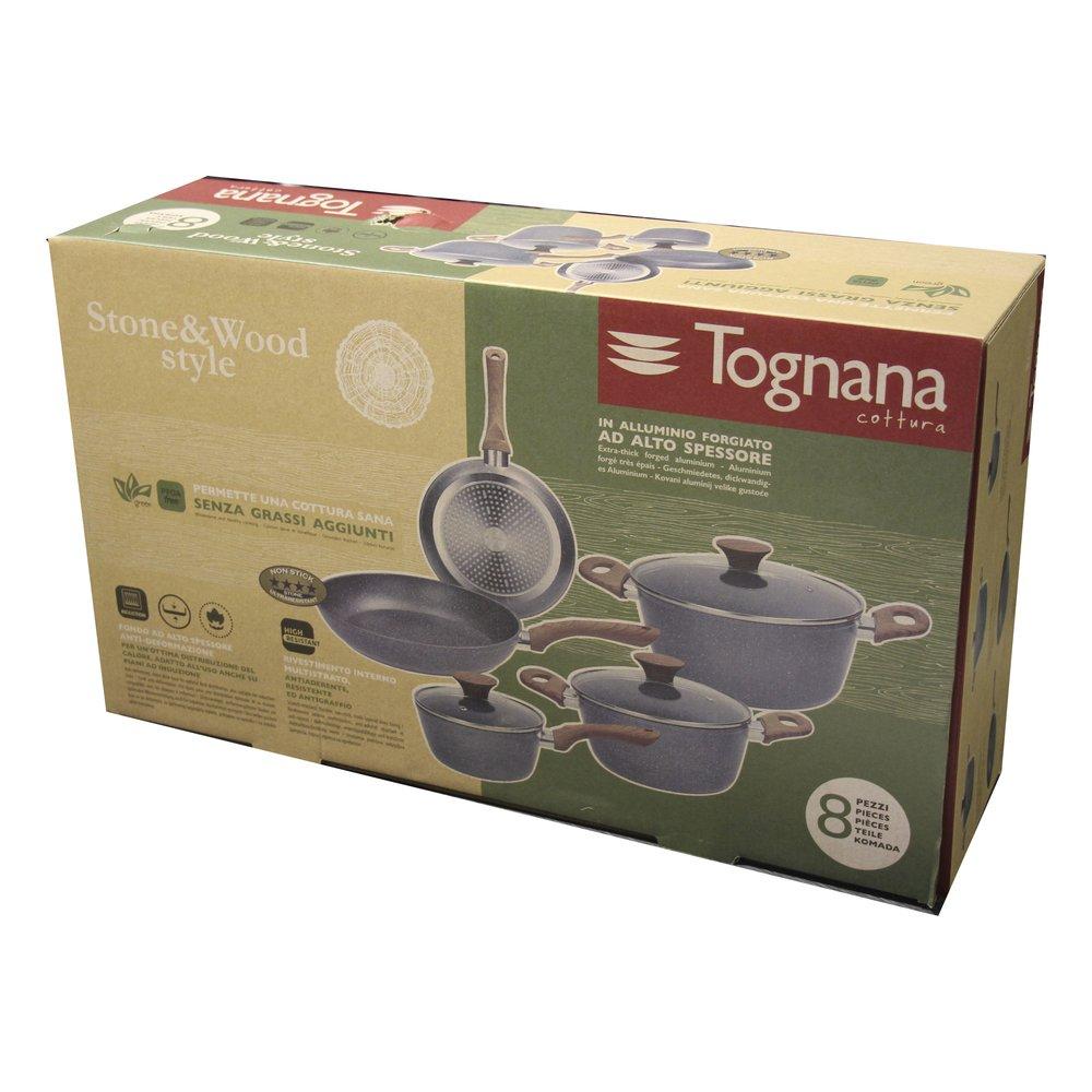 Tognana Porcellane V779128MGRW 8pieza(s) Kit de cacerolas - Kits de cacerolas (Gris, Aluminio, Baquelita, Marmotech, Madera, Esmalte, Baquelita): Amazon.es: ...