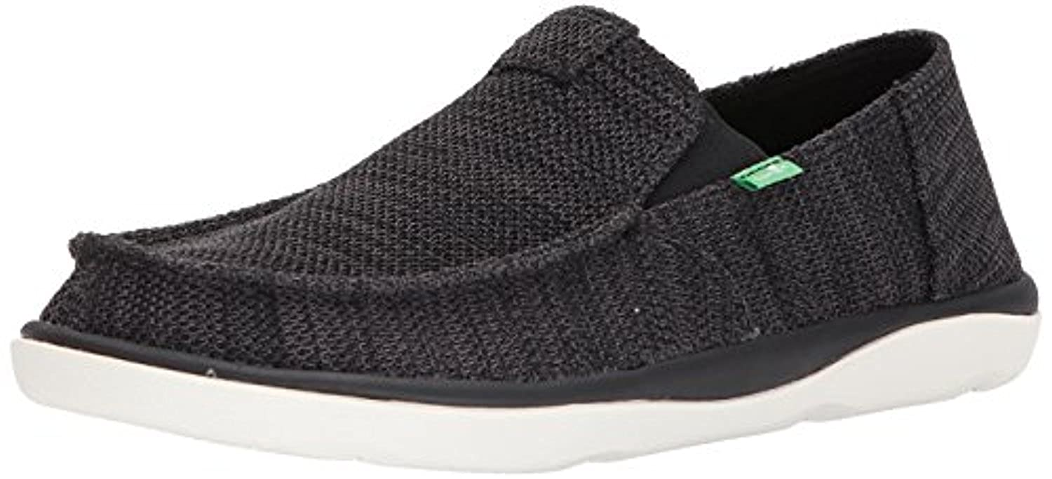 Sanuk Men's Vagabond Tripper Mesh Sidewalk Surfer Black 7 & Oxy Cleaner Bundle