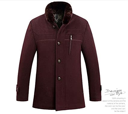 Sulandy @ Men's Winter Warm Soft Wool Blend Pea Coats Slim Fit¡ at ...