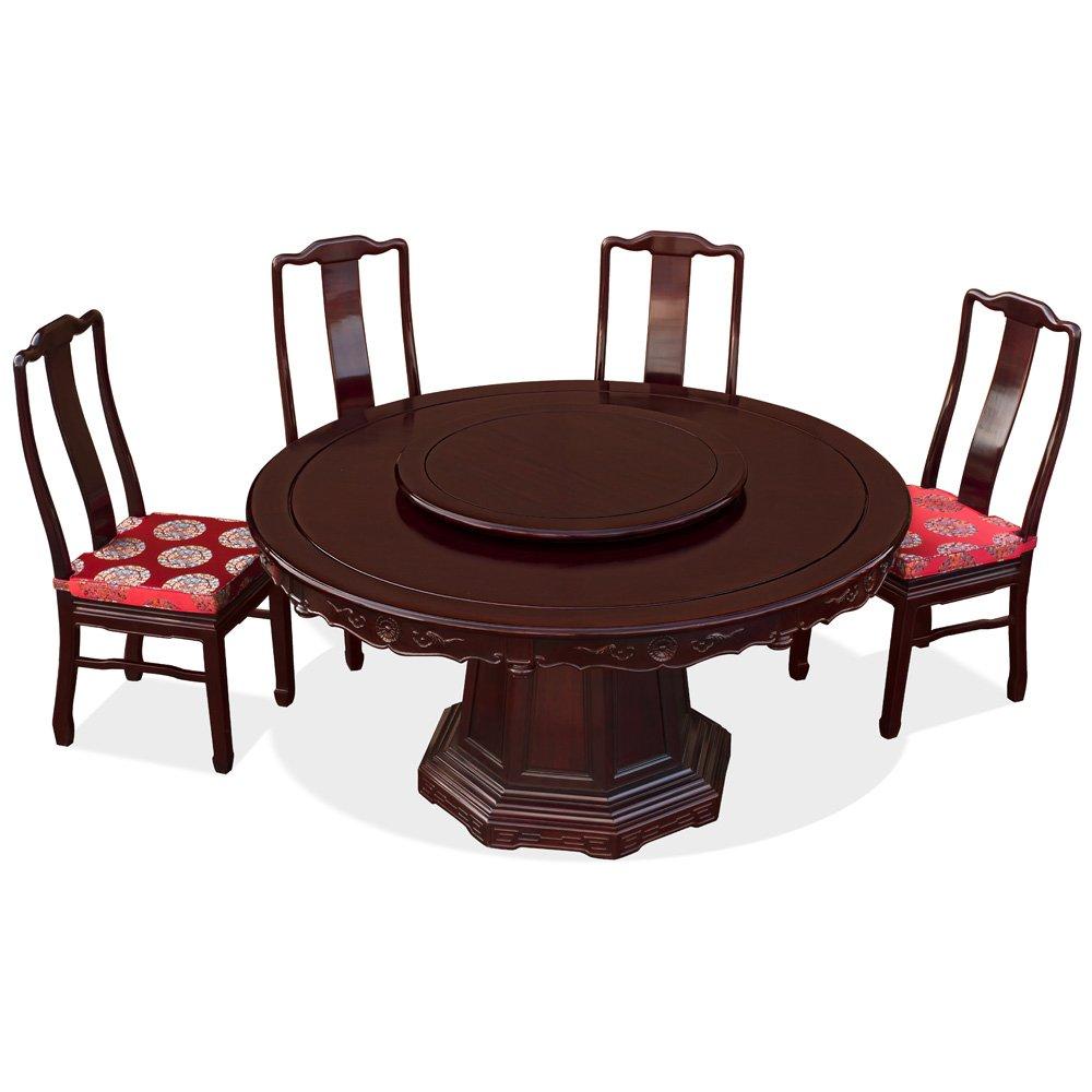 Amazon.com: China Muebles en línea Rosewood Round Juego de ...