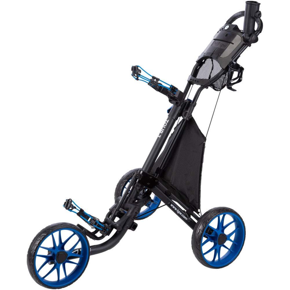 TGW Tour 3-Wheel Push Cart Dark Grey Blue