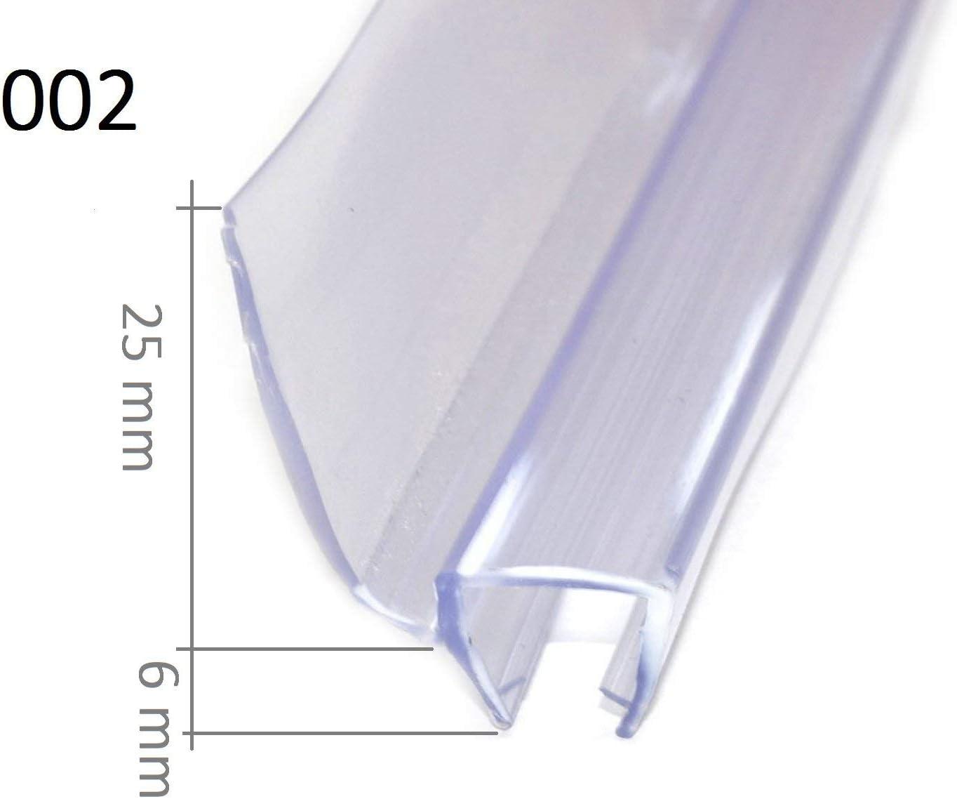 Joint /Étanch/éit/é Douche Joint de Rechange Joints Douche /Épaisseur de Verre de 6mm /à 8mm Joint Porte Douche Joint pour Douche 002 75cm