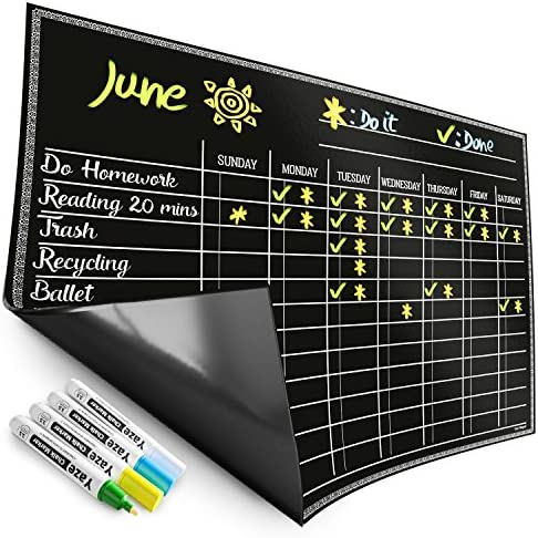 Magnetic Chore Chart Easy Clean product image