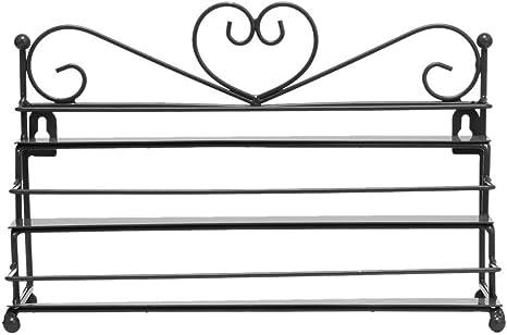 AISHN Wandregal mit 3 Metall Ablagen f/ür Nagellack oder /ätherische /Öle Nagellack zur Selbstmontage Aufbewahrung Display Regal Schwarz
